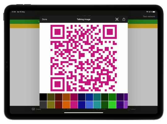 Design your QR codes with different colors